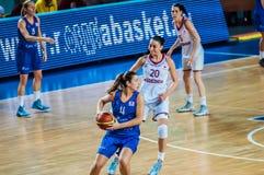 Tournoi de basket-ball de filles ; Images libres de droits