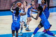 Tournoi de basket-ball de filles ; Photographie stock libre de droits