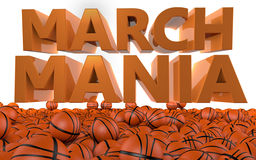 Tournoi de basket-ball de NCAA de manie de mars illustration libre de droits