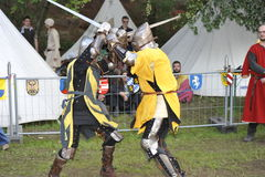 Tournoi de chevaliers, festival médiéval, Nuremberg Image stock