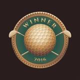 Tournoi de golf, logo de vecteur de concurrence Illustration Libre de Droits