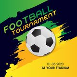 Tournoi 2018 de groupe du football de coupe du monde ENV 10 illustration stock