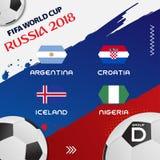 Tournoi 2018 de groupe du football de coupe du monde ENV 10 illustration libre de droits