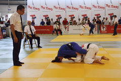 tournoi de judo de l'international 25 Images libres de droits