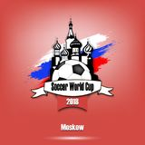Tournoi 2018 de Logo Soccer Photographie stock