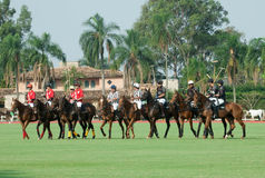 Tournoi de polo au Brésil photographie stock