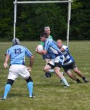 Tournoi de rugby dans New Hampshire central images stock