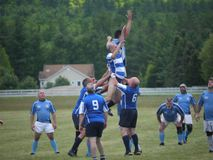 Tournoi de rugby dans New Hampshire central photographie stock libre de droits
