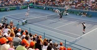 Tournoi de tennis de Coupe Davis Image libre de droits