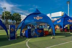 Tournoi du football des préparations OD dans Kampot, Cambodge images libres de droits