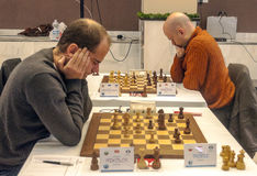 Tournoi international d'échecs Images stock