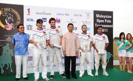 Tournoi ouvert 2011 de polo de Malaysian Photographie stock