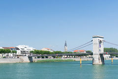 Tournon in France. Tournon a riverside village sur Rhone in France Stock Images