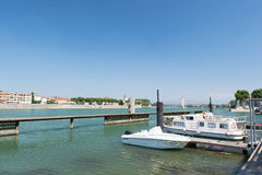 Tournon in France. Tournon a riverside village sur Rhone in France Stock Photography