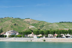 Tournon in France. Tournon a riverside village sur Rhone in France Royalty Free Stock Photography