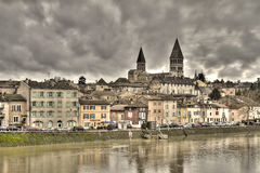 Tournus, Burgundy Stock Photo