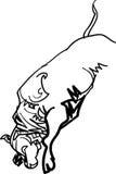 Touro de salto ilustração do vetor