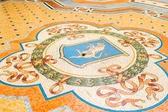Touro do mosaico em Milão foto de stock