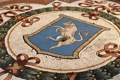Touro do mosaico em Milão, Italy Imagens de Stock
