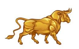 Touro dourado ilustração stock