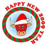 Touro vermelho do ano novo Imagem de Stock Royalty Free