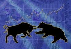 Touros e ursos Fotografia de Stock