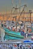 Tourquoise Boat. Stock Photo