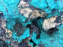 Tourquoise und Schwarzmineraloberfläche Lizenzfreies Stockbild