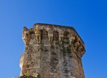 Tourreluque Tower (circa XIV c.). Aix-en-Provence, France. Tourreluque Tower (circa XIV c.), part of medieval town walls. Aix-en-Provence, France Stock Photography