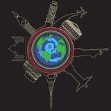Tourring um círculo Imagem de Stock