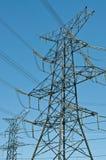 Tours électriques (pylônes de l'électricité) Photos libres de droits