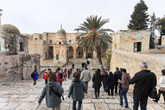 Tours of ancient Jerusalem Royalty Free Stock Photography