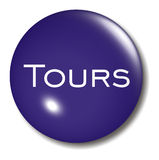 Tours Button Orb sign Stock Images