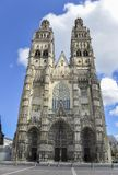 Tours Cathedral, France Stock Image