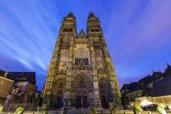 Tours Cathedral. Tours, Pays de la Loire, France Stock Photography