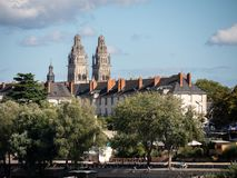 Cathedral of Tours, in the centre-west of France. royalty free stock photos