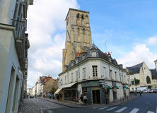 Tours Charlemagne in Tours, France. TOURS, FRANCE - AUGUST 14, 2014: Tours Charlemagne in the old center of Tours, France Stock Photos