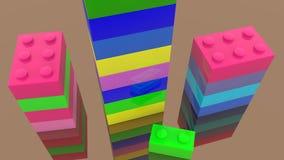 Tours colorées des briques de jouet illustration stock