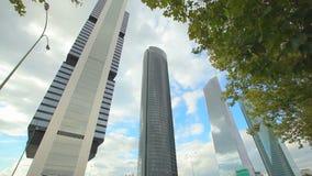 Tours d'affaires de Madrid banque de vidéos