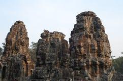 Tours de Bayon Angkor Thom Image libre de droits