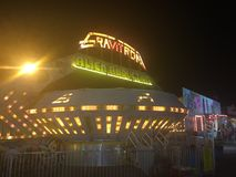 Tours de carnaval de foire régionale Images libres de droits