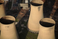 Tours de centrale électrique Photographie stock