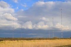 Tours de communication grandes ondes Goliath Appareil de radio pour Images libres de droits