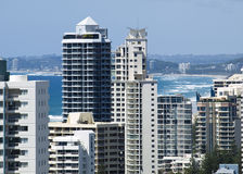 tours de highrise d'or de côte de l'australie Image libre de droits