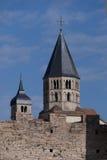 Tours de l'abbaye de cluny photographie stock libre de droits