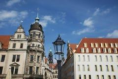 Tours de la palais-résidence dans la ville allemande de Dresde, dedans image stock