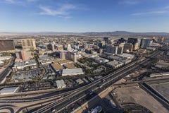 Tours de Las Vegas et antenne I15 Photographie stock libre de droits