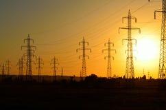 Tours #10 de lignes électriques Photos stock