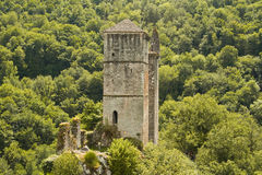 Tours de Merle. The remains of the Tours de Merle in Correze royalty free stock images