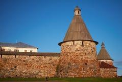 Tours de monastère de Solovetsky Images libres de droits